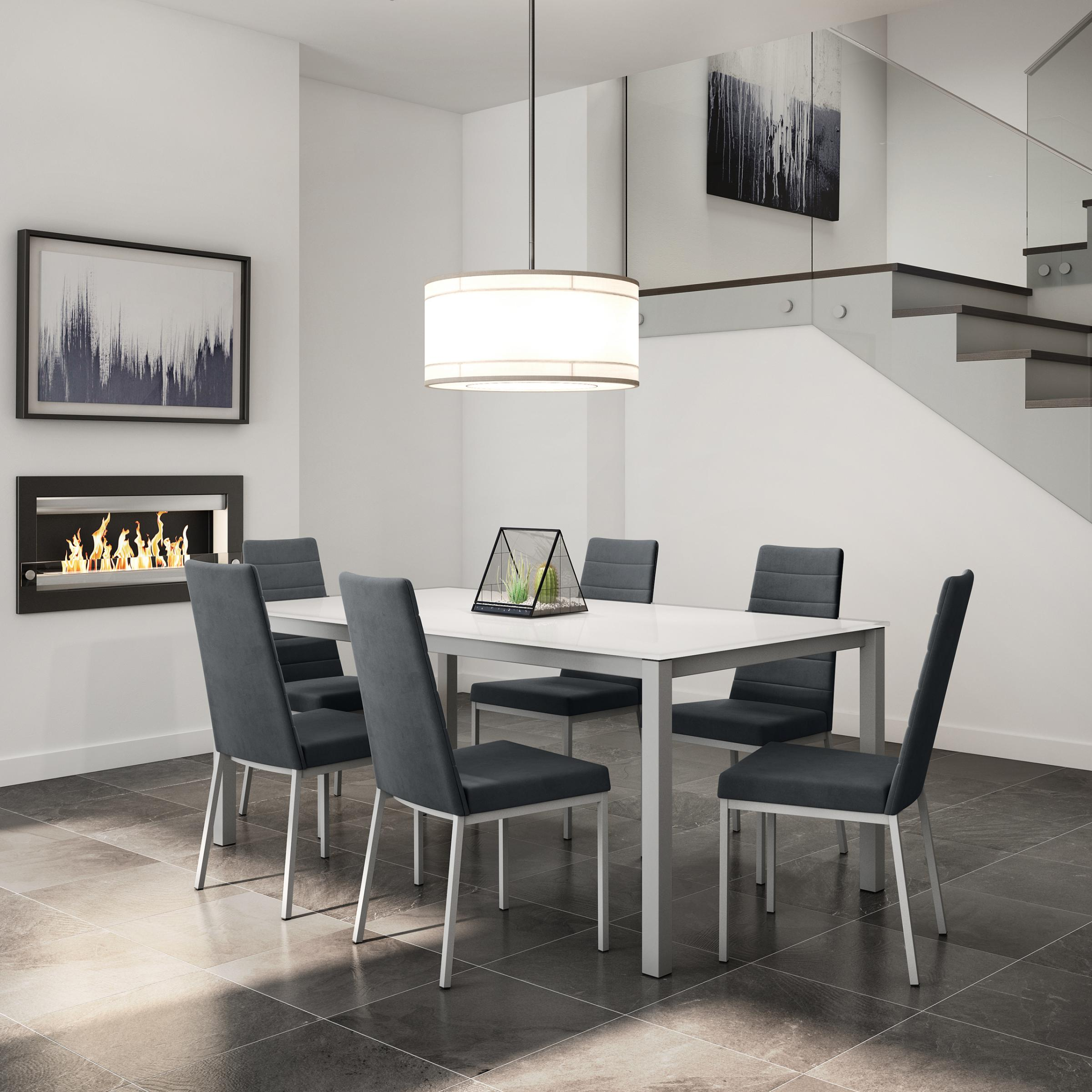 Bennington Glass Table With Luna Chair Dinettes Unlimited