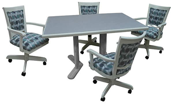 Grey Caster Chairs Amp Table Dinettes Unlimited