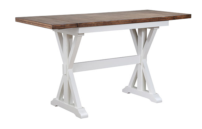 Pacifica Counter Height Pub Set Rustic Brown White