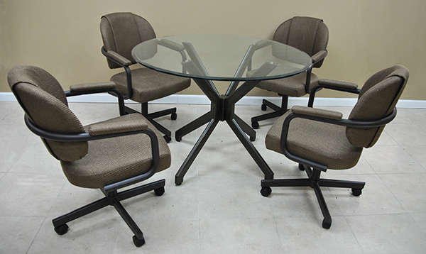 Tobias M70 Caster Chairs With 42 Quot Glass Alan Table