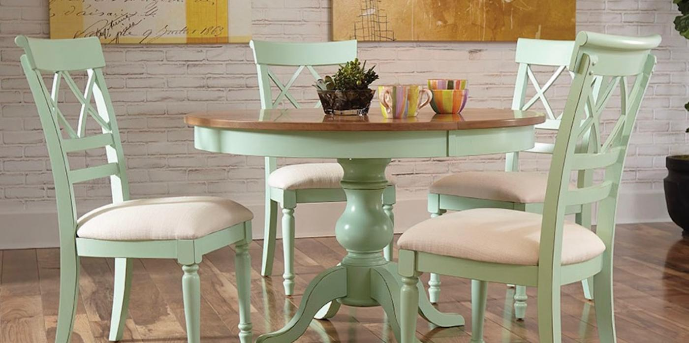"48"" Round Maple Pedestal Table w/ X Back Chair"
