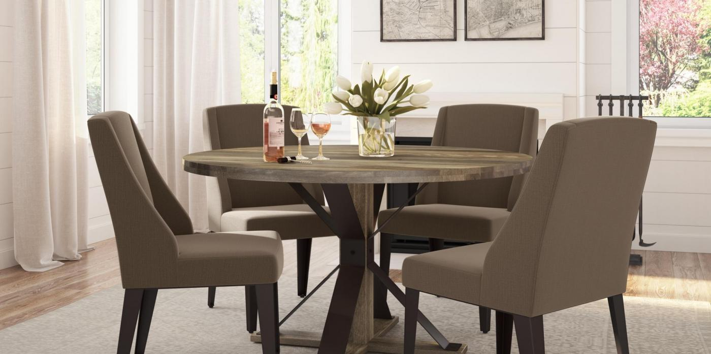 "54"" Round Top w/ Martina Table Base & Bridgette Chair"