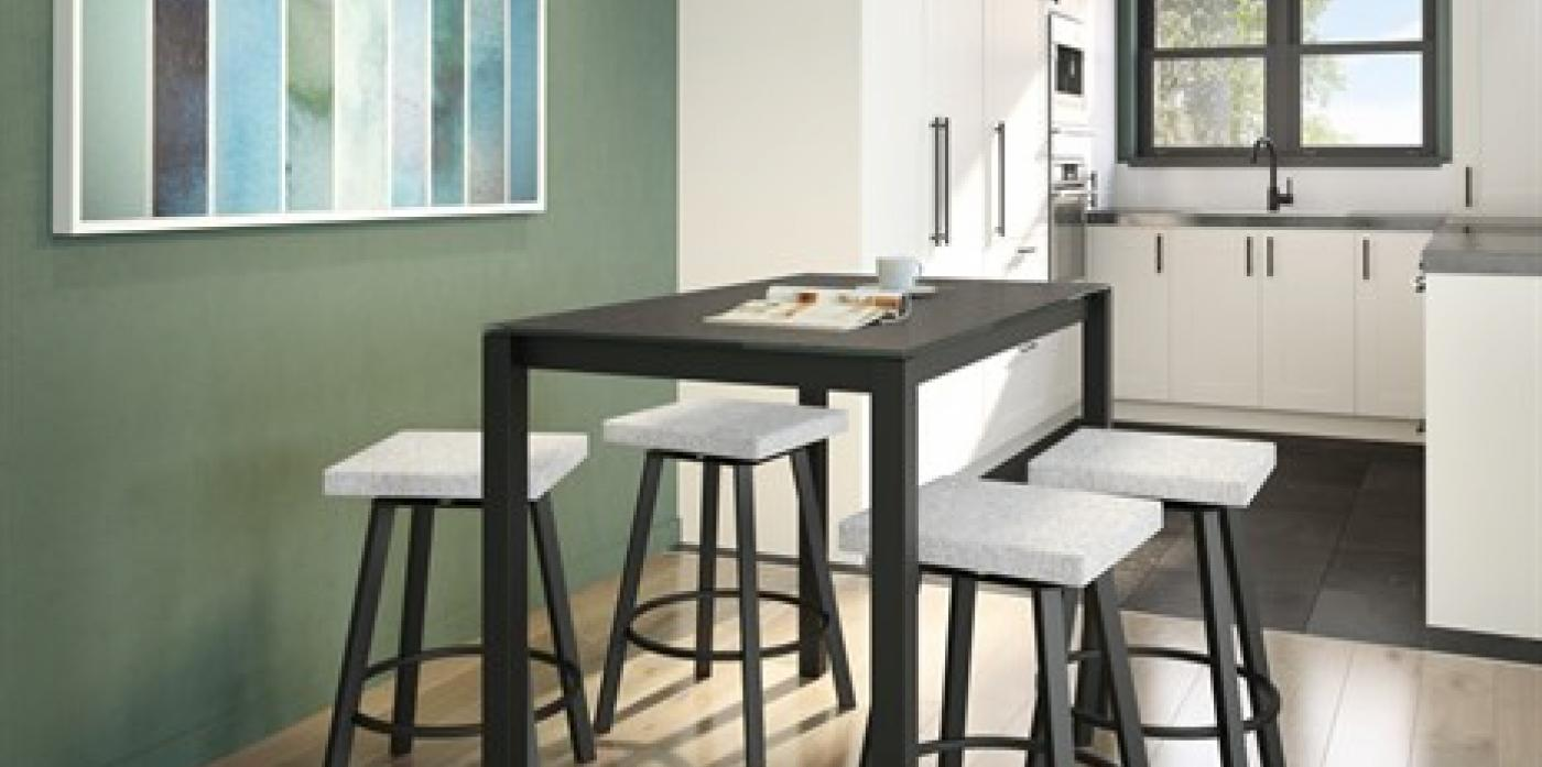 ANDERS SQUARE BACKLESS SWIVEL STOOL