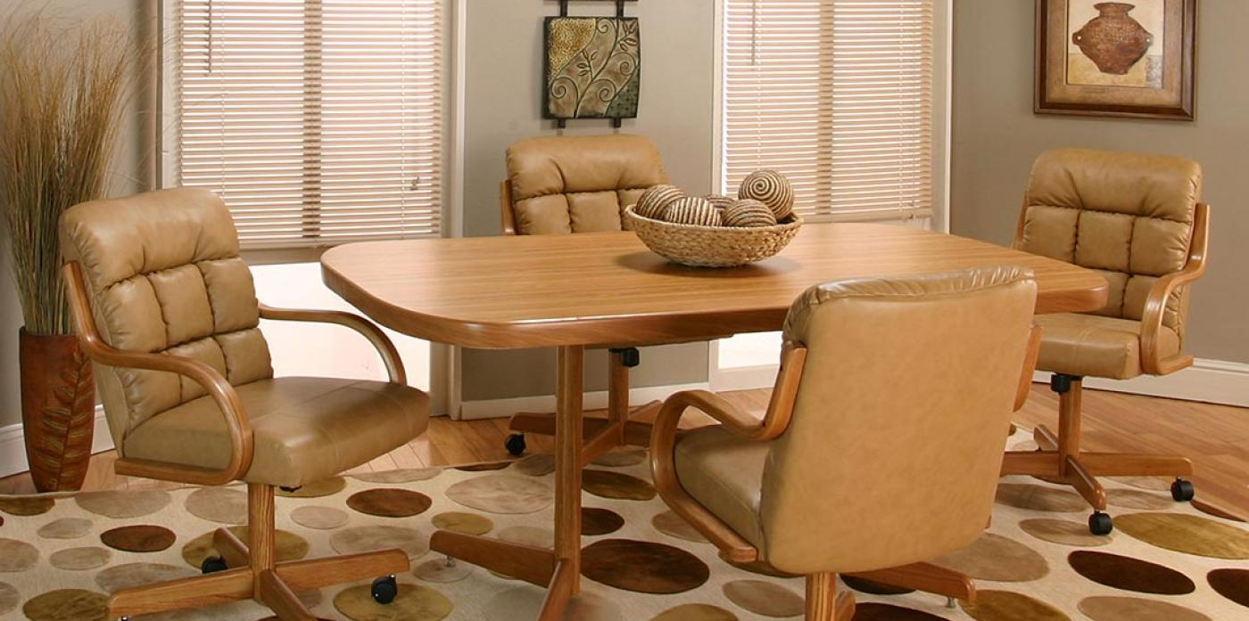 Wood Caster Chairs & Table