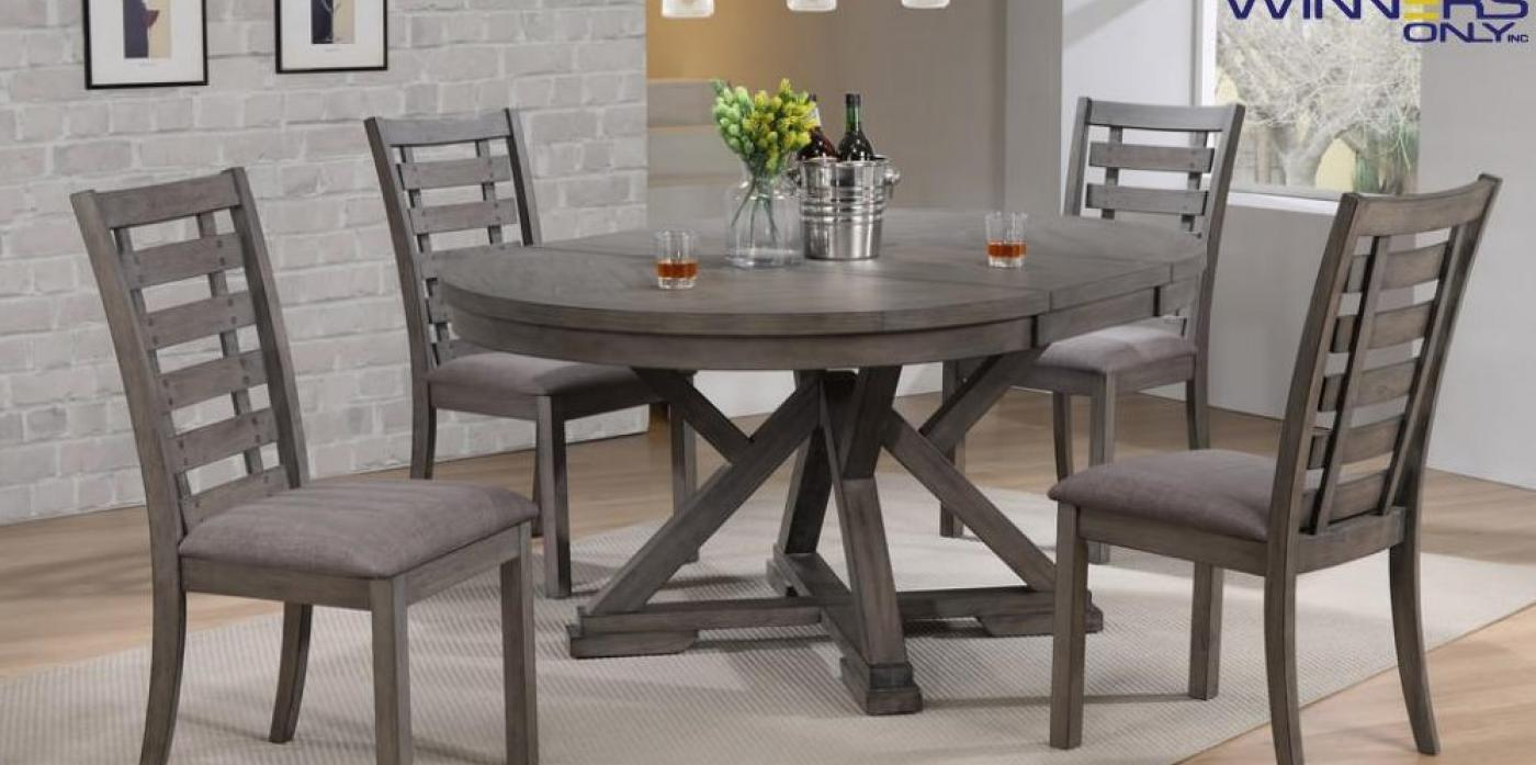 Stafford 5pc Dining Set Grey
