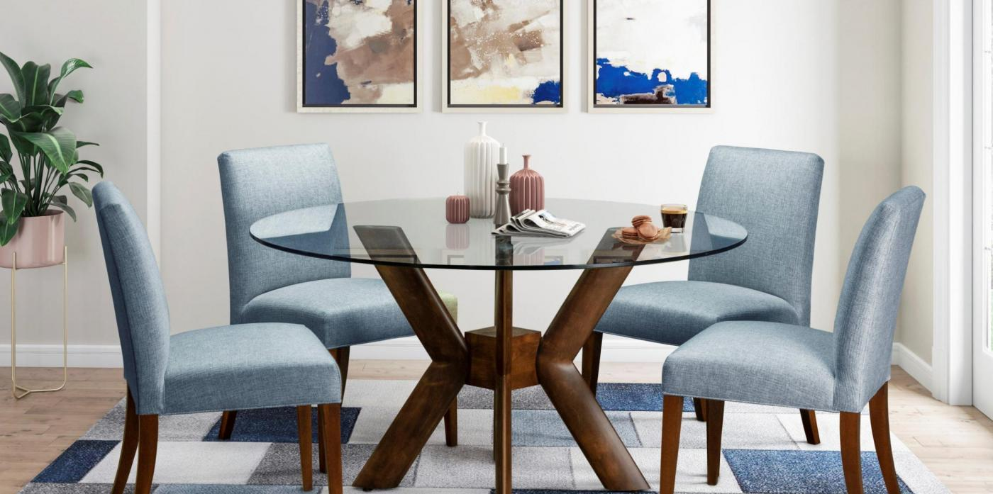 K-BASE GLASS DINING TABLE