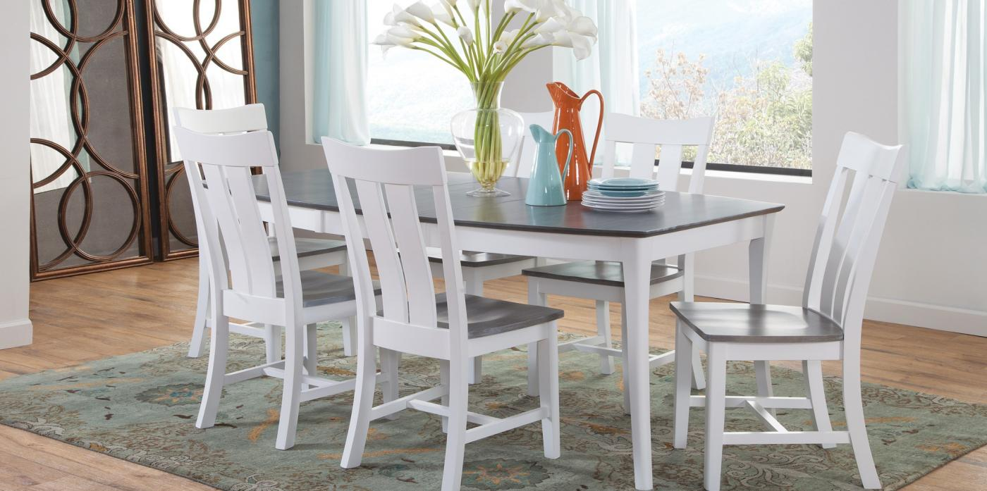 SALERNO EXTENSION TABLE WITH AVA CHAIR