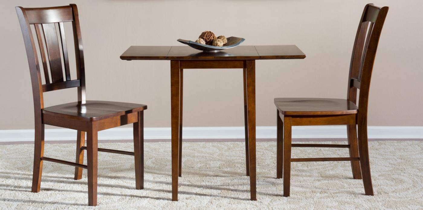 Espresso Drop Leaf Table