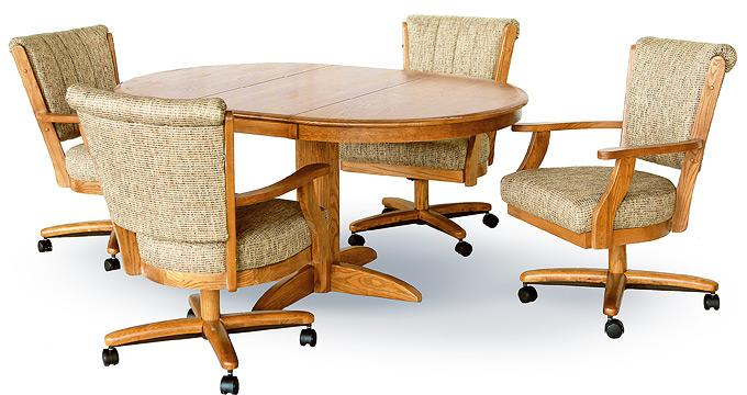 chromcraft dining room furniture. Chromcraft 178M Caster Wood Table 5pc Set  Dinettes Unlimited
