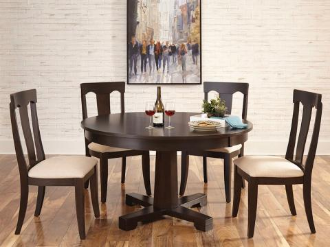 """54"""" ROUND TABLE TAPERED PEDESTAL & SPLAT BACK CHAIR"""