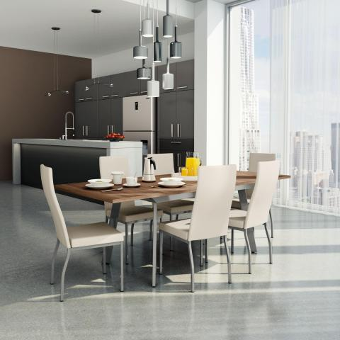 Amisco Nexus Extendable Table with Curve Chair