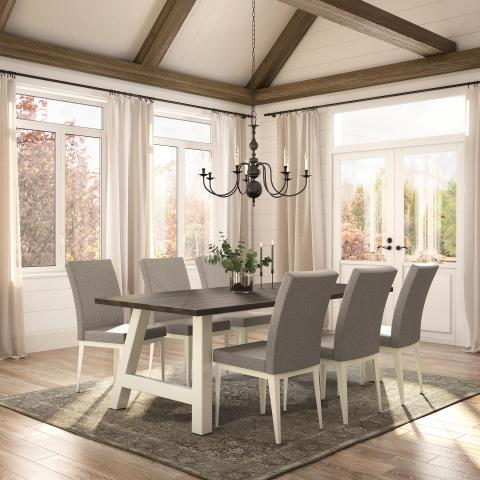 Bennett Table Base With Alto Chair Dinettes Unlimited