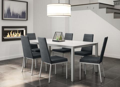 Amisco Bennington Table Base with Luna Chairs