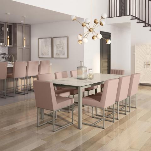 Nicholson - Glass Table Base with Darlene Chair