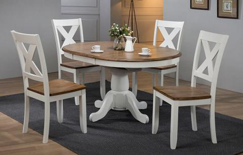 Pacifica Dining 5pc Set X Back Chair With Butterfly