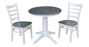 """30"""" ROUND SOLID PEDESTAL TABLE W/ EMILY CHAIR"""