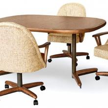 Picture of dining set with caster chairs