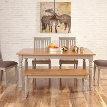 """64"""" FIXED TABLE W/ SPINDLE BACK CHAIR"""