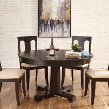 "54"" ROUND TABLE TAPERED PEDESTAL & SPLAT BACK CHAIR"