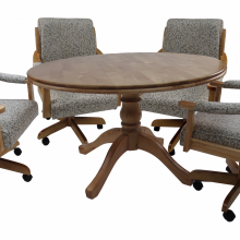 Caster Chairs Dinettes Unlimited, Dining Room Chairs With Wheels