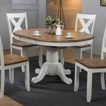 Pacifica Dining 5pc Set X Back Chair with Butterfly Pedestal Table