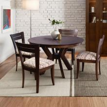 K BASE DINING TABLE WITH MODEL 39 SIDE CHAIR JAVA FINISH