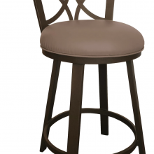 BRADLEY SWIVEL STOOL FLINTROCK GREY / GREY PU