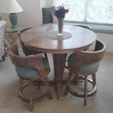 DARAFEEV STOOLS WITH JOHN THOMAS PUB TABLE
